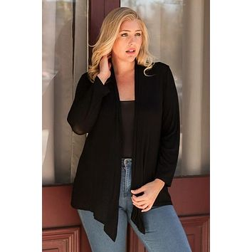 Whatever May Come Cardigan + Black