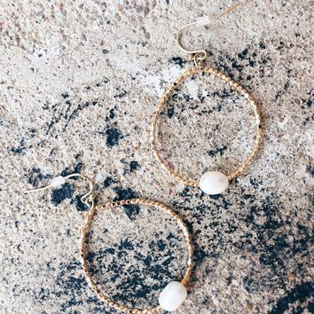 Maia Open Hoop Earrings