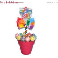 SALE Rainbow Star Lollipop Arrangement, Rainbow Birthday Centerpiece, Candy Buffet, Birthday, Rainbow, Candy, Centerpiece, Candy Arrangemen