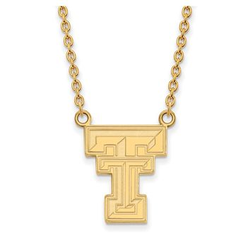 NCAA 14k Yellow Gold Texas Tech U Large Pendant Necklace