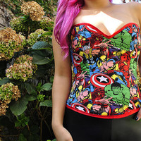 Marvel Superheros Heart Shaped Corset