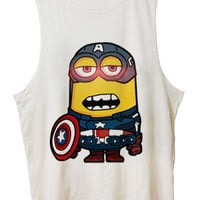 Captain America MINION Costom Tanktop