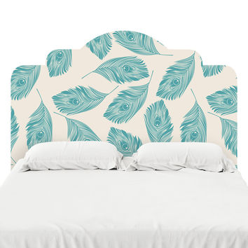 Peacock Feathers Headboard Decal