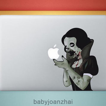 Zombie Snow White----macbook sticker IPad decals Ipad skin decals Apple stickers Apple vinyl Decals for Macbook Pro /iPad1 / iPad2