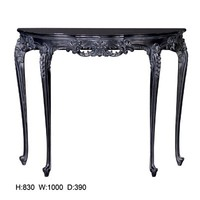 Moulin Noir Hall Table | Black Painted Console Table | Painted French Hall Table / Console
