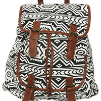 Black and White Tribal Backpack | Shop Accessories at Wet Seal