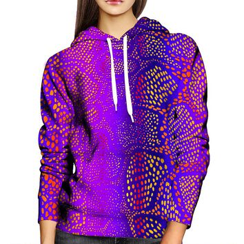 Many Dots Womens Hoodie