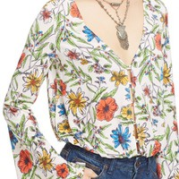 Free People 'Martini' Bell Sleeve Top | Nordstrom