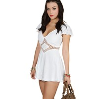 Sale-the Sweet Home Alabama Ivory Romper