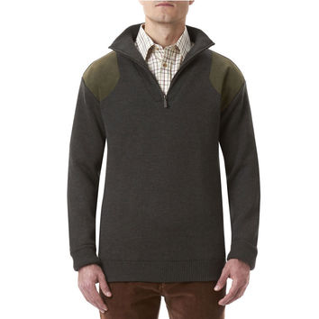 Storm Half Zip Sweater in Loden by Barbour