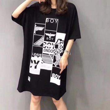 Boy Casual Fashion Open Edgy Short Sleeve Mini Dress