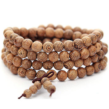 Womens Handmade Ethnic Style Necklace Mens Casual Wood Bead Bracelet Unique Gift Bracelet-Necklace-08