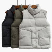 High collar vest women winter coat thicker