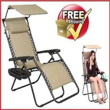 Outdoor Foldable Sun Lounger Deck Chair Garden Furniture Patio Pool Folding