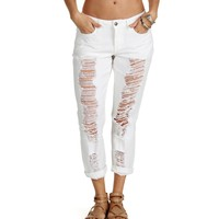 Sale-white Crash My Party Boyfriend Jeans