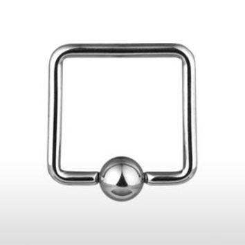 Square Captive Bead Ring