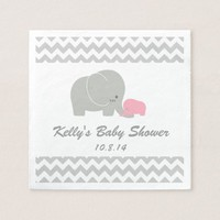 Elephant Baby Shower Disposable Napkin
