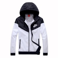 One-nice™ NIKE Hooded Zipper Cardigan Sweatshirt Jacket Coat Windbreaker Sportswear