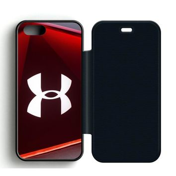 Under Armour Glass Leather Wallet Flip Case iPhone 5 | 5S