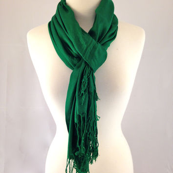 Pine Forest Green Pashmina