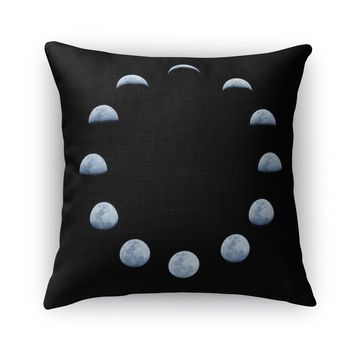MOON PHASE Accent Pillow By Honeytree Prints