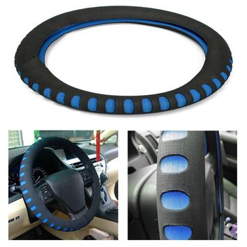 EVA Punching Universal Car Steering Wheel Cover Diameter 38cm Automotive Sup Car Styling Accessories 3 Colors