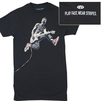 Eddie Van Halen Jumping T-shirt in available online from OldSchoolTees.com | Great Selection of Shirts from your Favorite Bands, TV Shows, Movies, & More from Old School Tees!