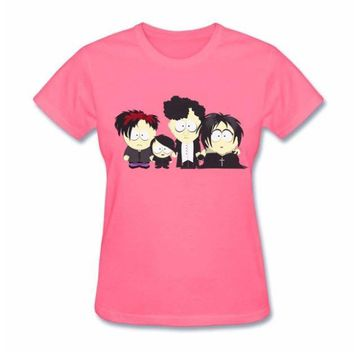 Goth Kids T Shirt Short Sleeved Funny Tees Shirts For Women