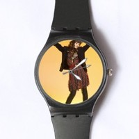 Custom Demi Lovato Watches Classic Black Plastic Watch WT-0693