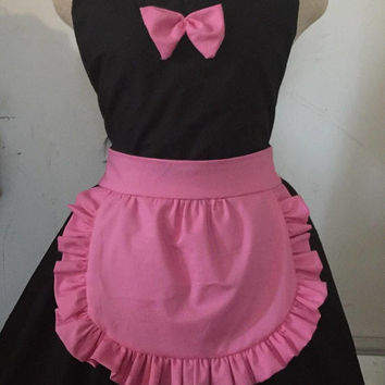 French Maid Apron Sexy Ruffles Cosplay Fun Two Sizes Hostess Gift Birthday Gift