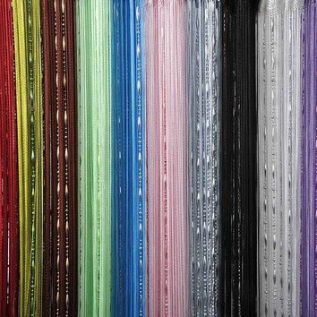 Factory Price! Fashion Chain Beads Fringe String Curtain Panel Window Room Divider