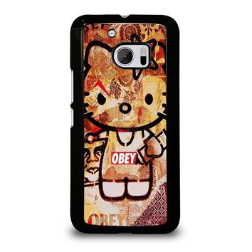 OBEY HELLO KITTY  HTC One M10 Case Cover
