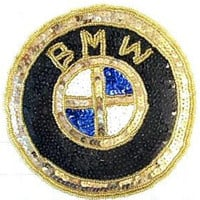 BMW Patch Gold/Blk/White/Blue 6""