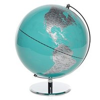 Z Gallerie - World Globe - Aquamarine