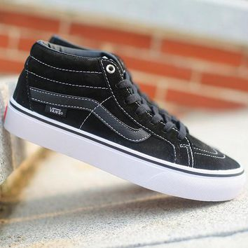 Vans SK8-Mid Canvas Ankle Boots Flats Sneakers Sport Shoes