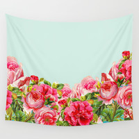 Summer Floral Wall Tapestry by Allyson Johnson