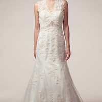 KCW1562 Lace Trumpet Skirt Wedding Dress by Kari Chang Eternal