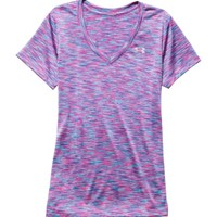 Under Armour Women's Tech Disruptive Space Dye V-Neck T-Shirt | DICK'S Sporting Goods