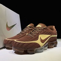 NIKE AIR VAPORMAX FLYKIT Fashion Flats Sport Shoes Running Sneakers Brown G-CSXY