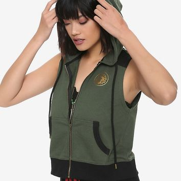 Destination Disney Mulan Green Hoodie Vest