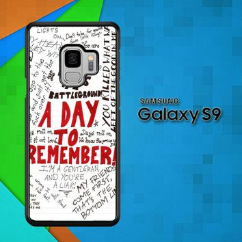 A Day To Remember Wallpaper Y0237 Samsung Galaxy S9 Case