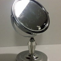 Silver Magnifying Cosmetic Mirror Double Sided Makeup Mirror  *Free Shipping*