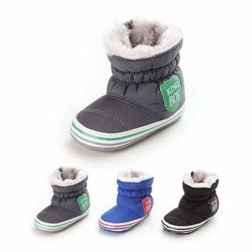 Infant Toddler Baby Boy Girl Winter Warm Soft Snow Boots Booties Crib Shoe 0-18M