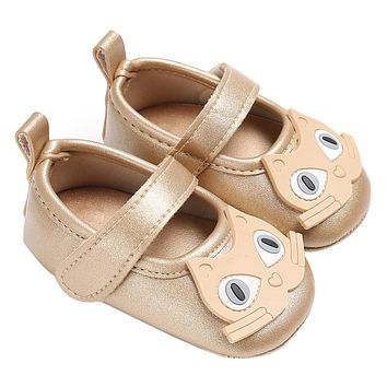 Simple Baby Shoes Cute Owl Type Newborn Baby Kids Infant Shoes Soft Sole Anti-slip First Walkers