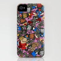 doctor blitzy ditzy plum iPhone Case by Sharon Turner | Society6