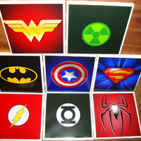 Superhero Coasters (set of 4/6/8)