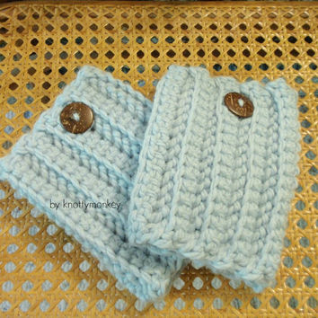 Boot Warmers Leg Warmers Boot Cuffs Chunky  Baby Blue Hunter Boot Socks Womens Leggings