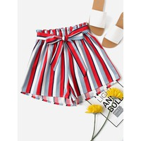 I'M Frilled Shorts - Red/White/Blue