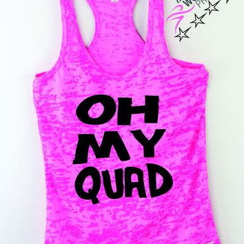 Oh My Quad Funny Exercise Tank Top