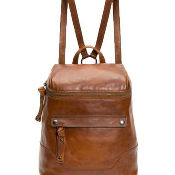 Frye Melissa Zip Backpack Cognac DB0168